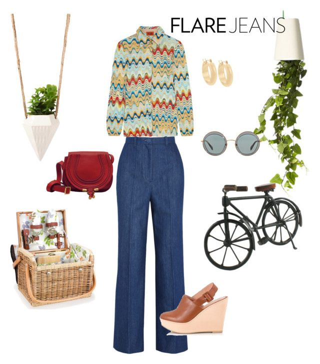 The new jeans•• by sheiscarla on Polyvore featuring polyvore, mode, style, Missoni, Topshop Unique, Robert Clergerie, Fratelli Karida, QVC, Miu Miu, Picnic Time, Boskke, Dot & Bo, women's clothing, women's fashion, women, female, woman, misses and juniors