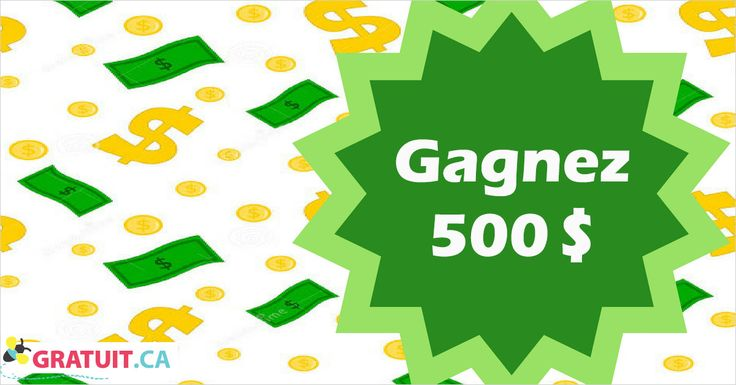 $500 cash prize - Members Only Prize Draw - Gratuit.ca