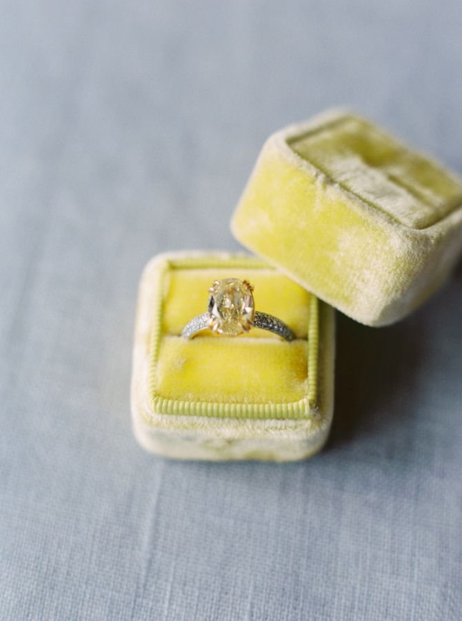 Stunning Canary Diamond: http://www.stylemepretty.com/vault/gallery/39081 | Photography: Erich McVey - http://erichmcvey.com/
