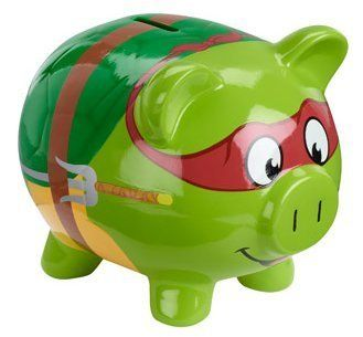 Teenage Mutant Ninja Turtles TMNT Piggy Bank.. Tell me why I find this so adorable?