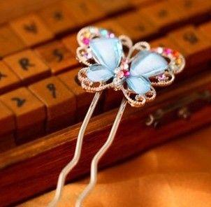ZOZHI Antigo Chinês Clássico Lady Styling Ferramentas Acessórios de Cabelo Varas Do Cabelo Do Casamento Borboleta Grampos de Cabelo Tiara de Jóias(China (Mainland))