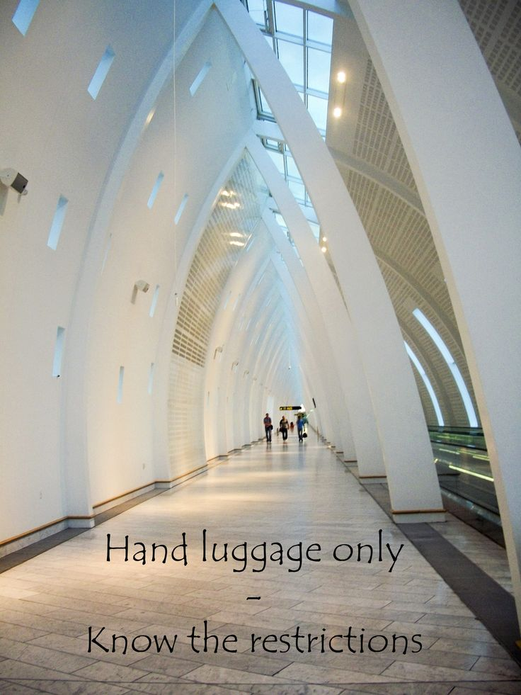 Travelling with hand luggage only can save you a lot of money if you are travelling with a low cost carrier - know the restrictions http://aworldofbackpacking.com/hand-luggage-only/