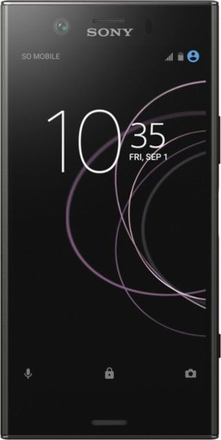Sony - XPERIA XZ1 Compact 4G LTE with 32GB Memory Cell Phone (Unlocked) - Black - Front_Zoom