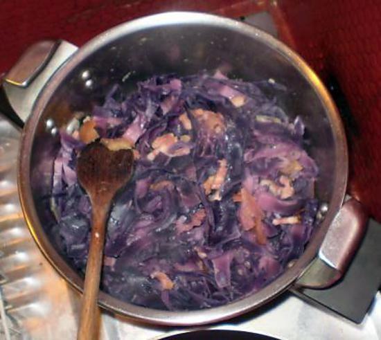 recette Chou rouge aux pommes et au lard