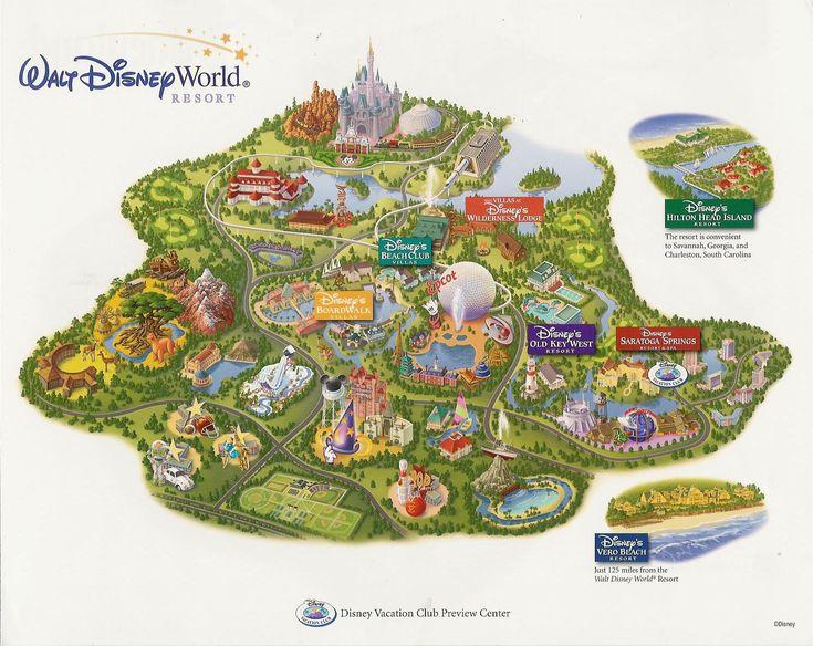 walt disney world fl map