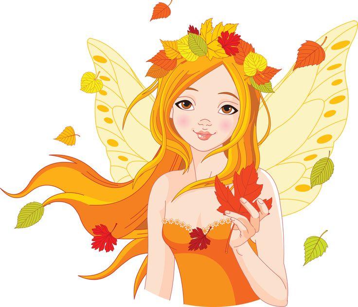 девушка осень рисунок для детей #2