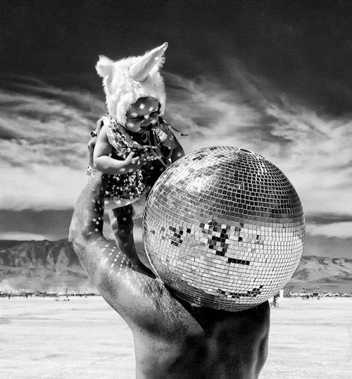 Reflection at Burning Man. Photographer Unknown-from Burning Man FB