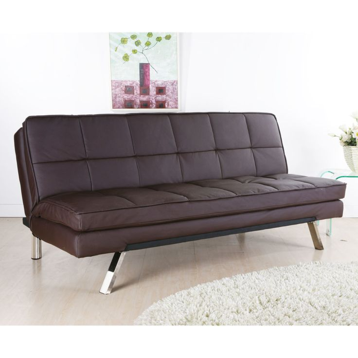 Recliner Sofa Furniture Modern Design Tufted Brown Leather Sofa Bed For Minimalist Living Room Concept Contemporary