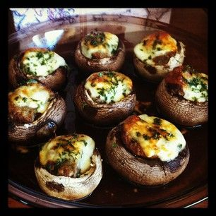 Turkey Sausage Stuffed Mushrooms (Gluten Free): Sausages Stuffed, Side ...