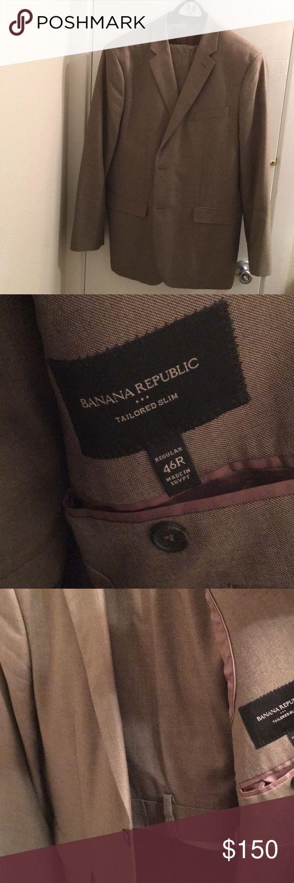 Brown Banana Republic Suit Gently used Banana Republic Suit Separates. Jacket Size 46R. Pant size 38x30. Banana Republic Suits & Blazers Suits