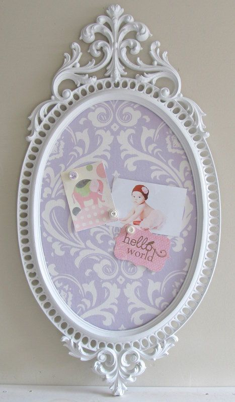 Magnetic Memory Board - Vintage with Lilac and White