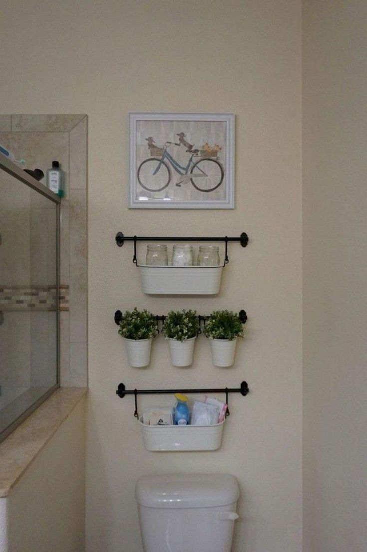 40+ Beautiful and Cool Bathroom Organization Tips Ideas #bathroom #bathroomorgan...