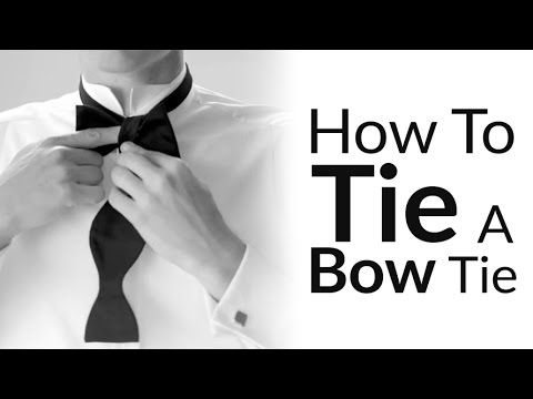 Follow the instructions below and improve your sartorial elegance by learning how to self-tie a bow tie.