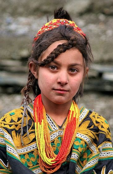 Kalash girl, Northern Pakistan. I recently did a presentation on their cultural concept of love, which involves first an arranged marriage, then eloping with another man later in life.