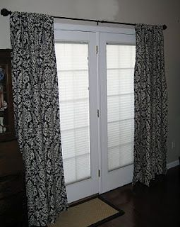 Hanging Curtains On French Doors Projects Pinterest Hanging Curtains