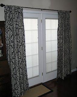 Best 25 door curtains ideas on pinterest door window - How to hang interior french doors ...