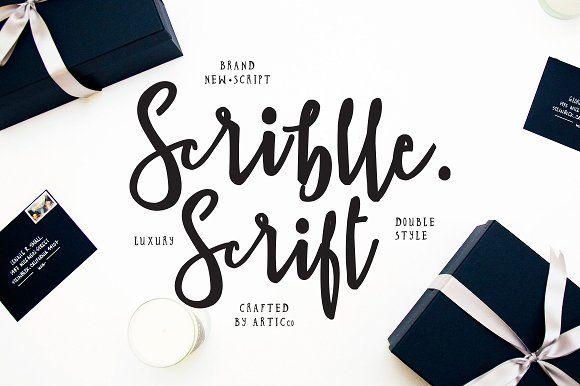 Brush Script Font - Scriblle by Kollkolls on @creativemarket