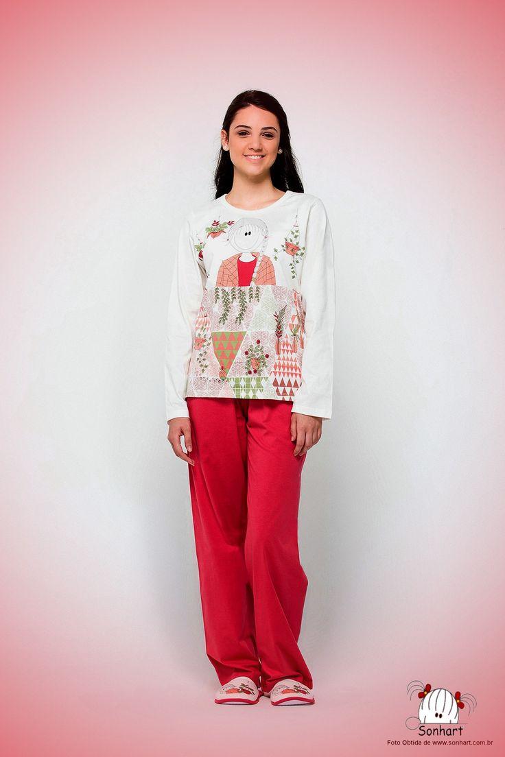 Malha Magia - Sonhart - Feminino- Pijama Camiseta Manga Longa e Calça Malha Fina - EM PROMOÇÃO NO MES DE AGOSTO/2017 !!!!          📞(whats)31 98640-3583       https://malhamagia.com.br/loja/sonhart-2302495  #festadopijama #pijamaparty #pijama #feminino #inverno #frio