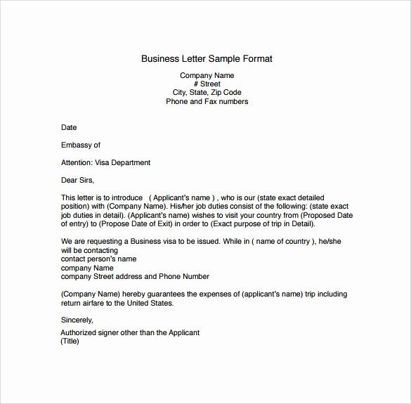 25 Business Letter Format Template In 2020 Business Letter