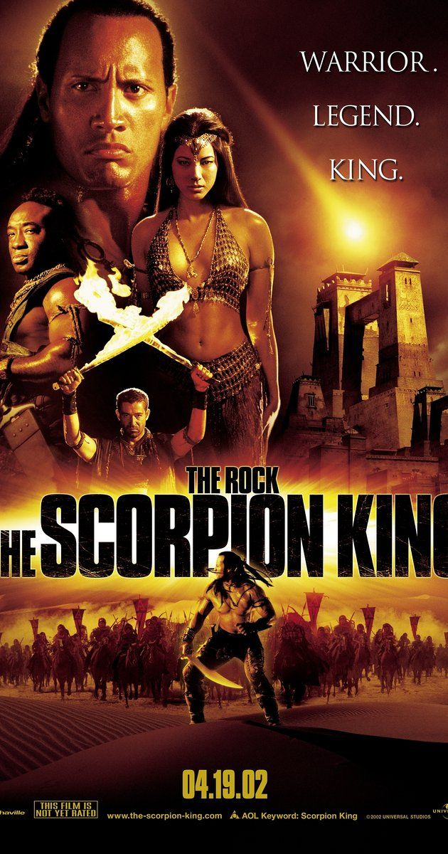 Directed by Chuck Russell.  With Dwayne Johnson, Steven Brand, Michael Clarke Duncan, Kelly Hu. A desert warrior rises up against the evil army that is destroying his homeland. He captures the enemy's key sorcerer, takes her deep into the desert and prepares for a final showdown.
