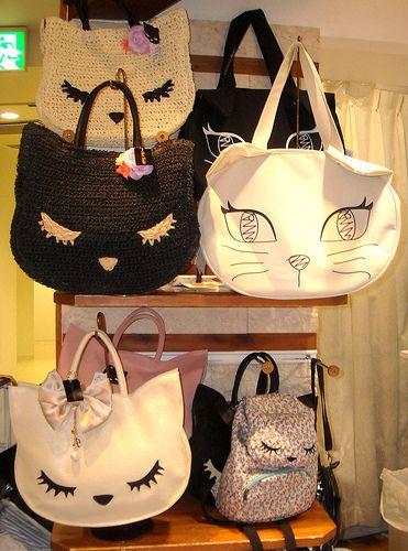 Cat handbags at 109 Shibuya, Tokyo.   by Seb Ian