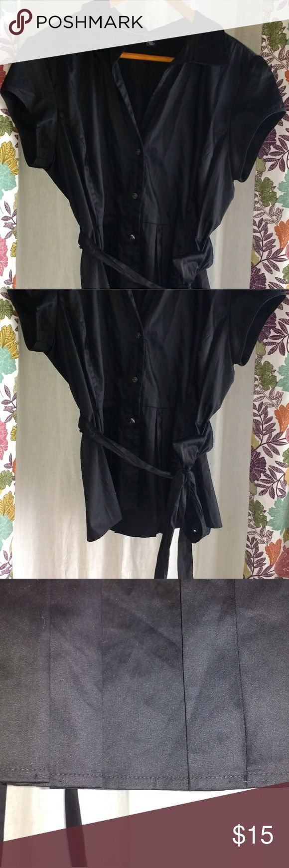 Tommy Hilfiger Black button down Peplum Top LG Tommy Hilfiger Black button down Peplum Top LG  Top is in like new condition. Threads that release the pleats have not been cut.  Thanks for looking!! Item is preowned and sold as-is, no refunds. Please review photos carefully. Please feel free to ask questions! Tommy Hilfiger Tops Button Down Shirts