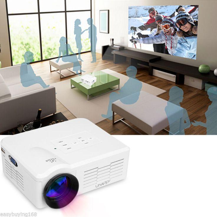 Mini LED LCD Projector Multimedia HD Home Theater USB/SD/VGA/HDMI/ATV for iPhone - http://electronics.goshoppins.com/tv-video-home-audio/mini-led-lcd-projector-multimedia-hd-home-theater-usbsdvgahdmiatv-for-iphone/