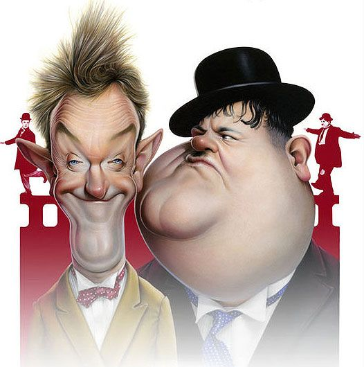 Laurel and Hardy (by Achille Superbi / Italy)