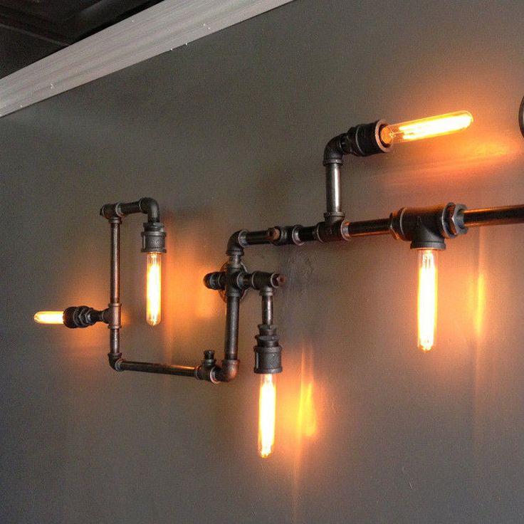 ceiling-lamp-LOFT-vintage-industrial-Wall cafe-pipes-pendant-light-chandelier