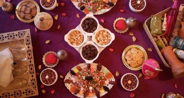 تقديم و تزيين مائدة عاشوراء مائدة تقليدية مغربية مئة بالمئة للاحبة Oumhidaya Table Settings Table Settings
