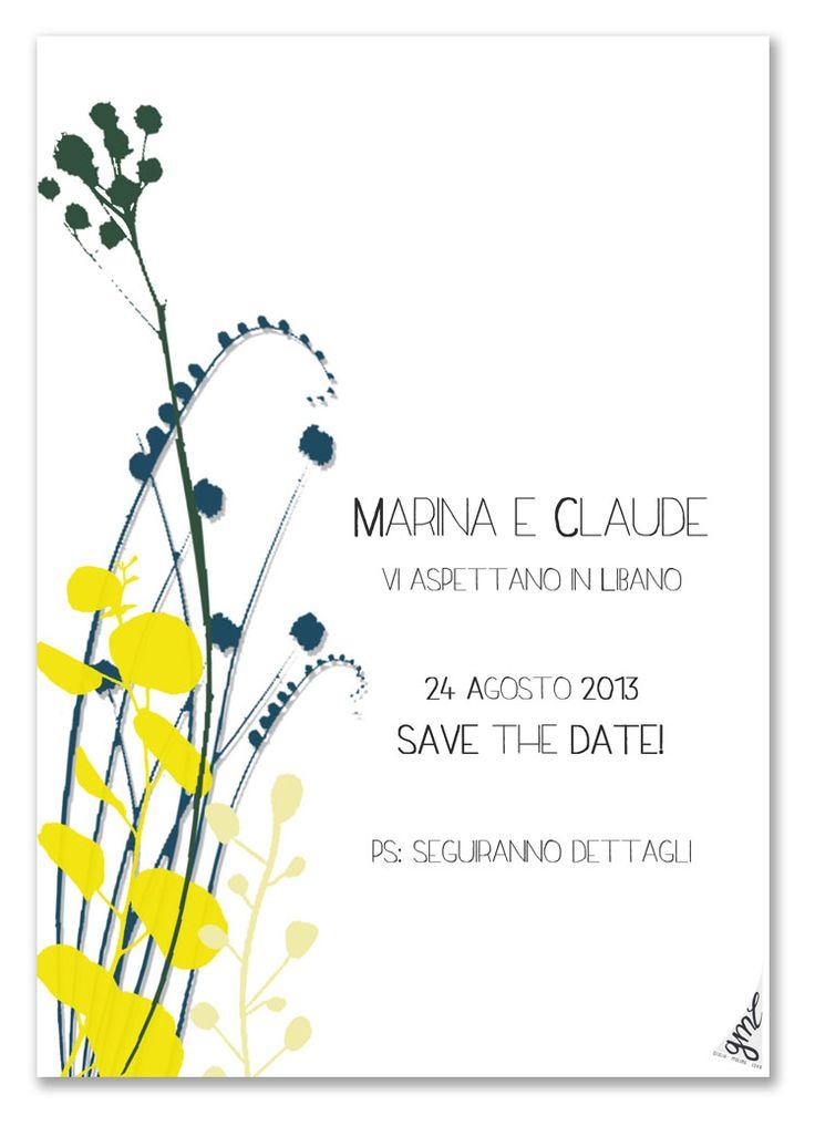 Save the Date - Wedding - Floral - Lebanon - Partecipazioni - Matrimonio