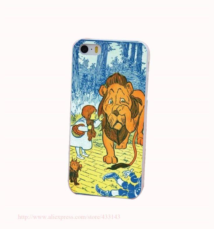 Волшебник из страны оз трусливый лев дороти трудно белый крышка чехол для iPhone 4 4S 5 5S 5c 6 6 s защитить телефон чехол