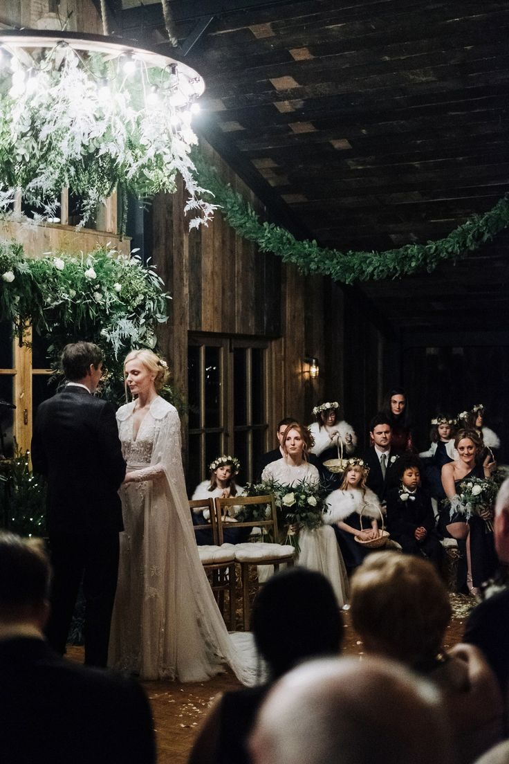 A Hermione De Paula Gown For A Soho Farmhouse Wedding Wedding
