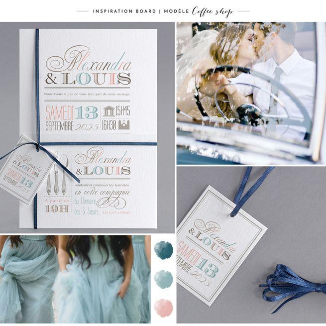 Faire-part de mariage M20-013-C board inspiration