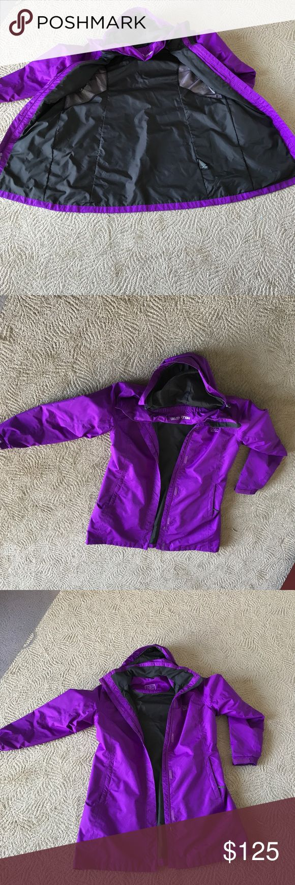 Helly Hansen Purple Coat Excellent Condition. Worn a few times. Size XL   Has hood that rolls into attached hood sleeve. Helly Hansen Jackets & Coats