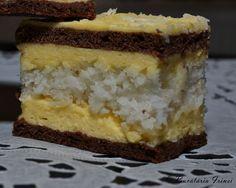 prajitura cu foi si blat de cocos, prajitura Ana, prajitura cu cocos