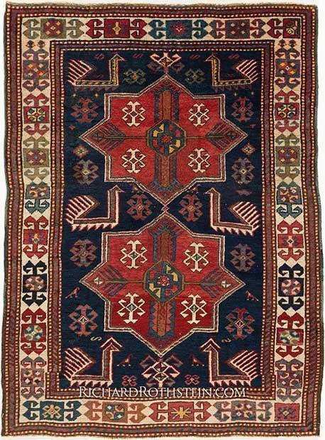 Antique Akstafa Caucasian Rug C3R87591