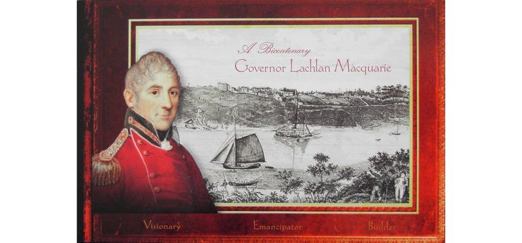 2010 Australia Post Booklet - Governor Lachlan Macquarie This delightful prestige booklet celebrates the bicentenary of Macquarie's governance. Contains four panes of four stamps that were designed by Stacey Zass that celebrate the importance of Lachlan Macquarie (1762-1824) as the Governor of New South Wales.  - See more at…