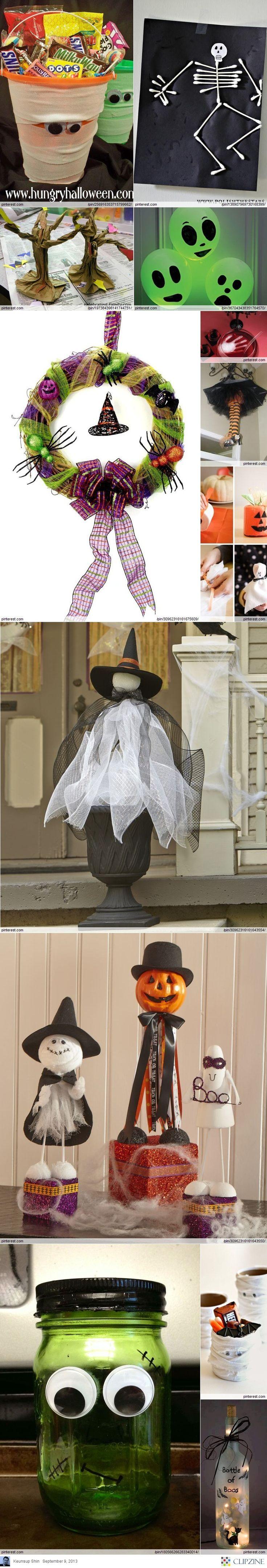 Halloween Crafts Ideas #Halloween #DIY #decor