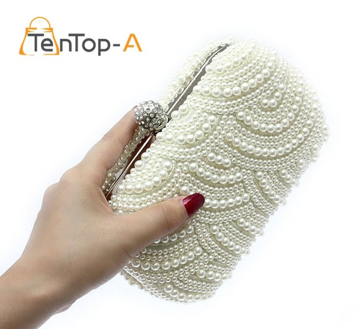 Ladies Two Sided White Pearl Beaded Fashion Evening Purse //Price: $34.95 & FREE Shipping //     #hashtag4