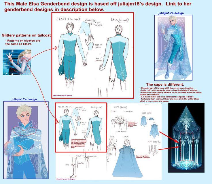 Male Elsa cosplay details - Disney Frozen Genderbend