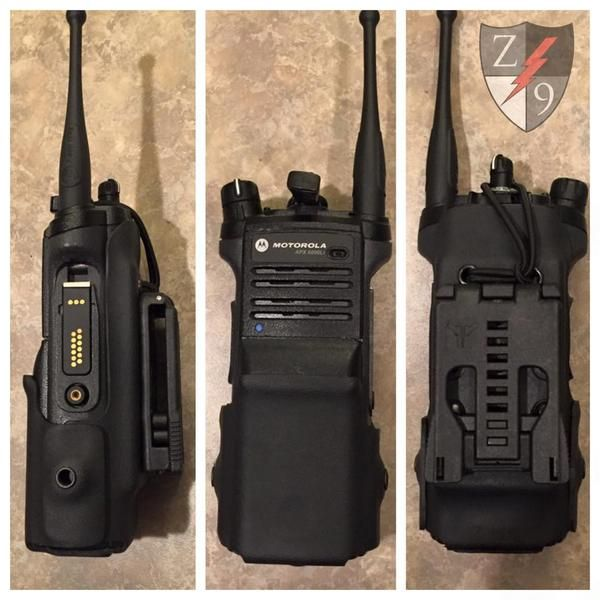 Kydex radio case for portable radios. Police Radio. Kydex Radio Case. Molle Radio Case. APX6000. APX7000. XTS2500. XTS5000. Harris XG-100. XL-200. Duty Gear.
