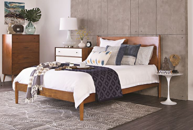Alton Cherry platform bed - Full. Same look as West Elm, but less expensive! $370.