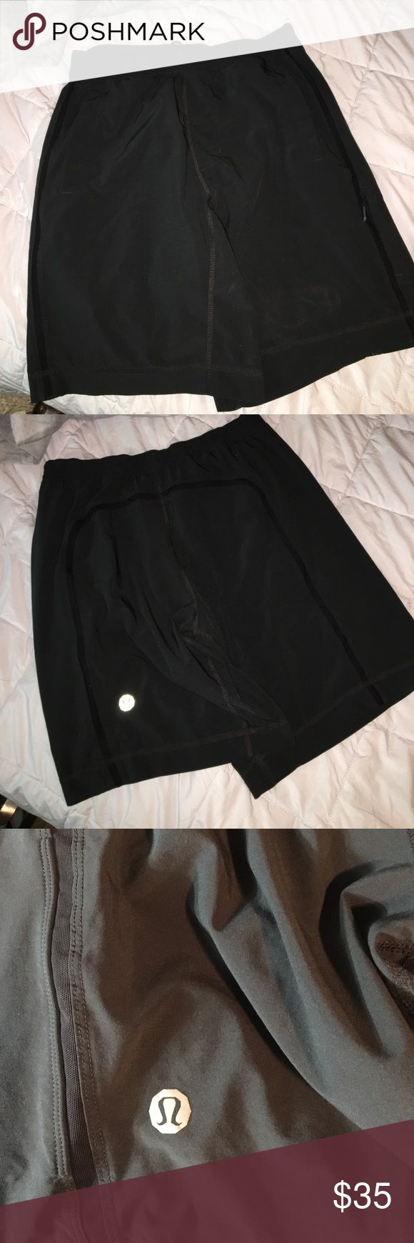 lululemon Men's Workout Shorts Excellent condition- no wearing at all. Drawstring waist, 2 open front pockets and one small zip on side! lululemon athletica Shorts Athletic