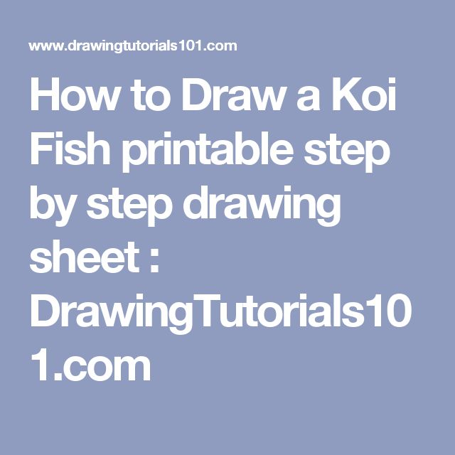 How To Draw A Realistic Koi Fish Step By Step