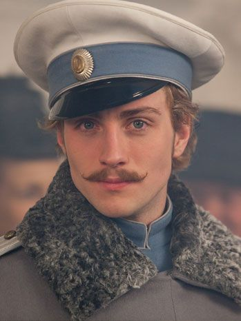 "Aaron Taylor-Johnson as the dashing Count Alexei Vronsky in ""Anna Karenina"" (2012)"