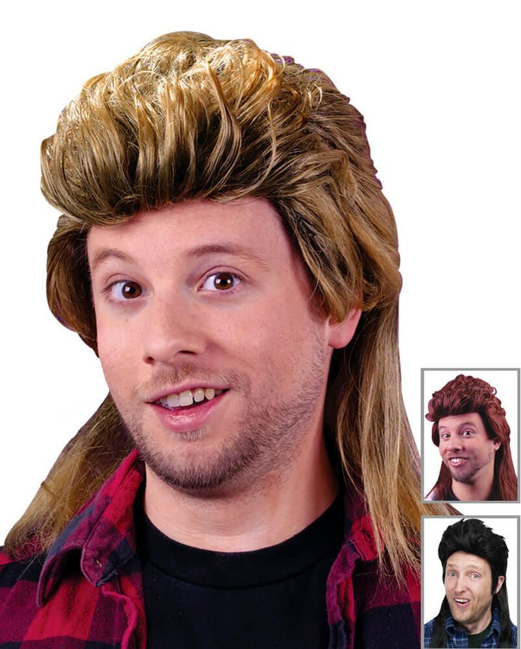80's Mullet Wig - Blonde, Brown or Black- Candy Apple Costumes - 80's Costumes
