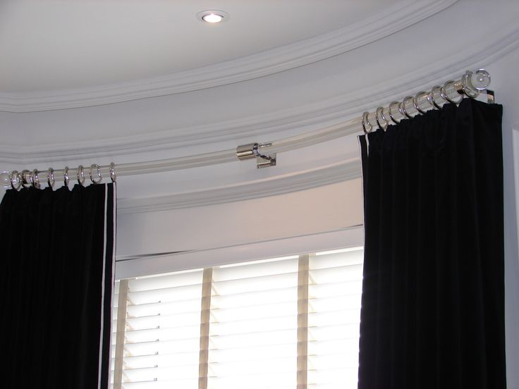 curved curtain rod for bow window pinterest the world s catalog of ideas