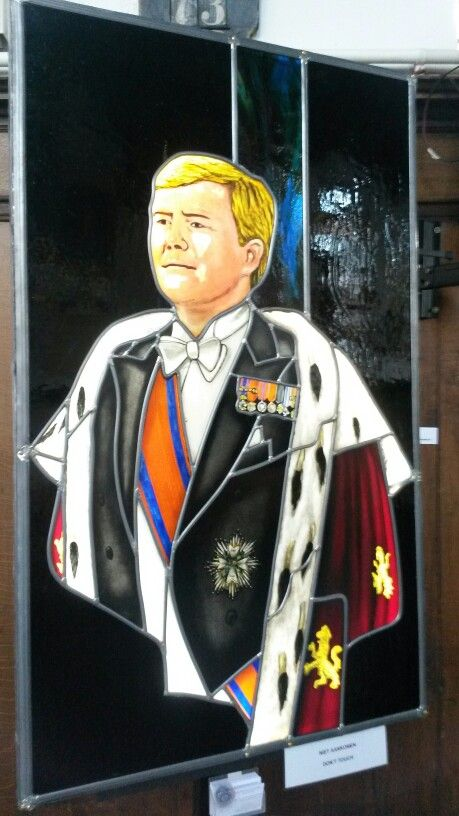 Portrait of King Willem of the Netherlands.