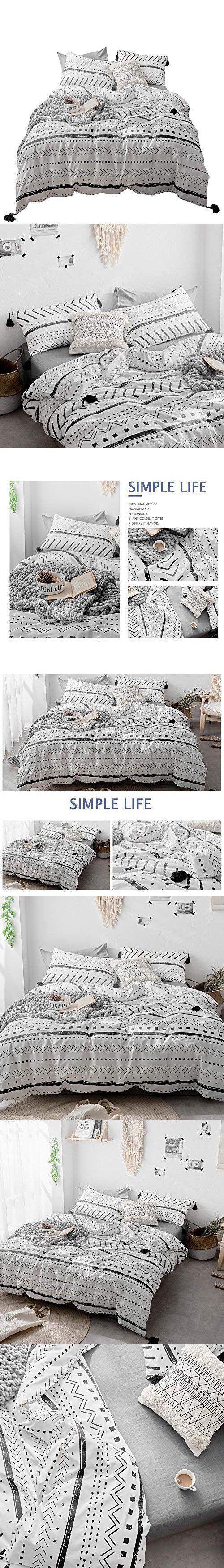 Best Vclife Cotton Twin Bedding Sets Modern Kids Duvet Cover 400 x 300